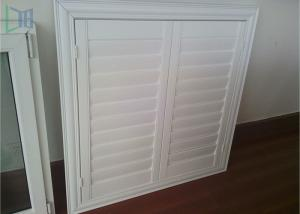 China Professional Glass Jalousie Windows , Powder Coating White Window Shutters on sale