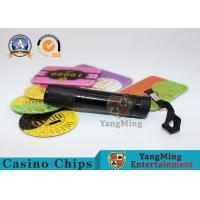 365 - 395nm LED Poker Chips UV Flashlight Purple Violet Light Brushed Aluminum Material