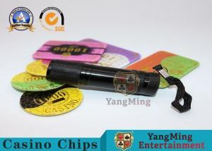 China 365 - 395nm LED Poker Chips UV Flashlight Purple Violet Light Brushed Aluminum Material on sale