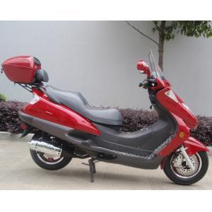 2つのヘッドライトの青い大人のガスのスクーター、2つの座席実質の革が付いている150ccスクータ