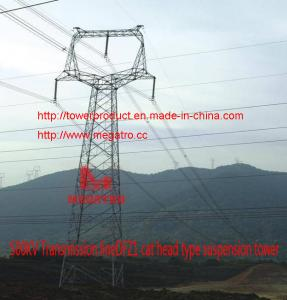China megatro 500KV Transmission lineDFZ1 cat head type suspension tower on sale