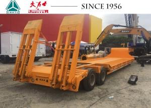 China 60Tons 1 Lines 2 Axle Lowbed Trailer With Rigid Suspension For Philippines Sale on sale