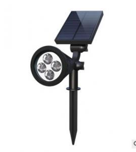 China IP44 Outdoor Solar Power Landscape Spot Lights/ 4 LEDs 1W SolarPanel White Light Spotlight Garden Lamp on sale