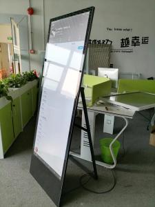 "China Floor Stand Portable LCD Digital Signage Advertisement Player 55"" 450-750cd/m2 wholesale"