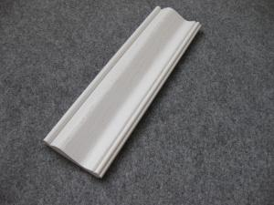 China Embossed Foam PVC Skirting Board / Chair Rail 15mm Thickness Moisture Proof on sale