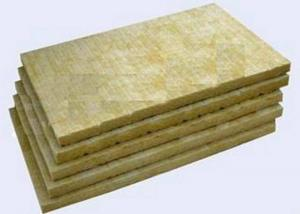 China High Strengh Rigid Rockwool Insulation Boards Acoustic Insulation Materials Indoor / Outdoor on sale