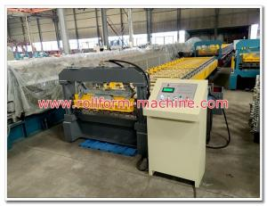 China Metra Aluminum Roofing Sheet Corrugation Machine with 5 Tons Decoiler, Automatic Cutting Equipment on sale