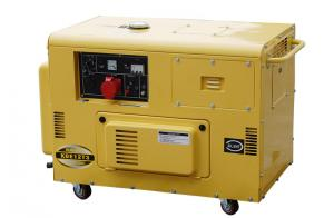 China 50HZ Triple Phase Small Diesel Generators For Home Backup , 10kva Silent Diesel Generator on sale