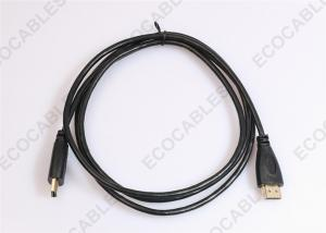 China Black Super Thin Signal HDMI To HDMI Cable 4.2MM OD For TV / Projector / DVD on sale