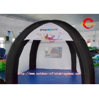 China OEM Four Pillars Black And White Inflatable Outdoor Tent for Exhibition on sale
