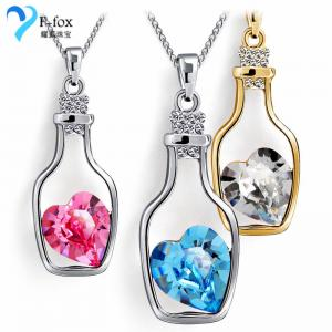 China New Drift Bottle Women's 925 Sterling Silver Crystal Pendant on sale