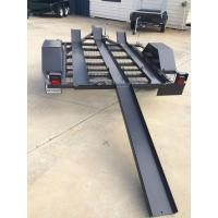 China 750kg 7x4 Two Bike Motorcycle Trailer , Tandem Axle 3 Rail Motorcycle Trailer on sale