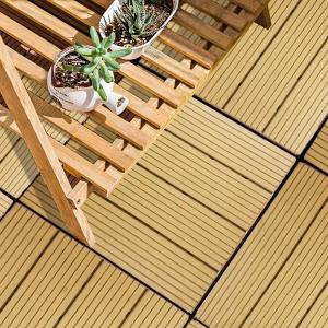 China CE Certificate Wood Plastic Composite Flooring/WPC DIY Tiles/WPC Decking on sale