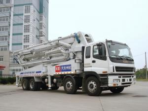 China 47m 8x4 ISUZU Concrete Pump Trucks , Truck Mounted Concrete Pump on sale