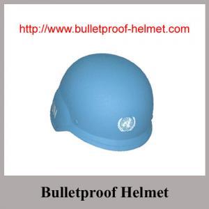 China NIJ IIIA Boltless PASGT Aramid  Fabric UN Blue Bulletproof Helmet on sale