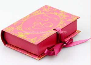 China Book Style Branded Gift Boxes Pink Color Customize paper Unique Socks Packaging on sale