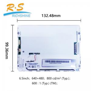 China 6.5 Inch 640x480 Industrial LCD Screen display G065VN01 V2 70 Viewing Angle on sale