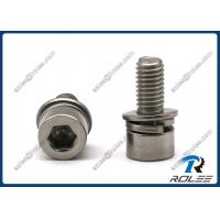 China 304/316/A2/A4 Stainless Socket Head Cap SEMS Screw with Flat & Spring Washers on sale