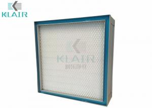 China Mini Pleat Silica Gel Air Filter , Reverse Gel Seal Hepa Filters For Clean Room on sale