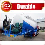 Mechanical suspension 45cbm bulk cargo transport semi trailer/ 4-axles bulk powder trailer/ dry bulk cement for sale