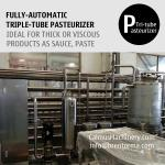 5000L/H Fully-automatic Triple-Tube Sterilization Machine Tubular Pasteurizer