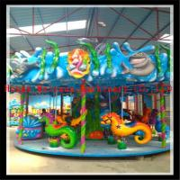 new product rides Chrismas carnival park rides sea horse carousel