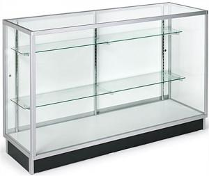 China Horizontal Wide Cell Phone Display Cabinet With Recessed Kickplate on sale
