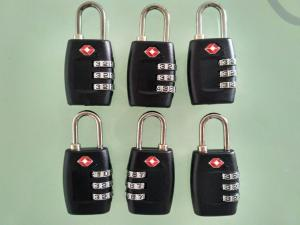 China PC / ABS Material TSA Approved Travel Locks 32.5g TSA 335 With 3 Dials on sale
