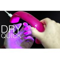 China Portable LED Lamp Nail Dryer With USB 9w 395nm Family Personal Use on sale