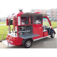 Public Electric Fire Engine With 2 Seater , Battery Powered Fire Fighting Truck