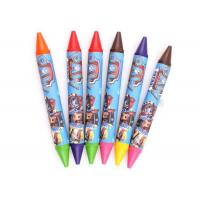 China Safty desgin Kids Drawing Funny double end crayon/Eco-friendly color drawing double end crayon on sale