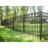 China Black Steel Garden Fence Panels , Galvanized Steel Fence 40mm*40mm Rail Size on sale