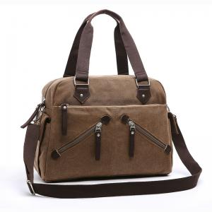China New Fashion Casual Tote Crossbody Handbags Canvas Bag Men and Women Shoulder Bag with zippers on sale