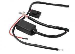China Fog Light Relay Electrical Wiring Harness Kit For Vehicle Led On / Off Switch on sale
