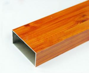 China Profil en aluminium de finition de cadre de porte en bois carré pour le matériau de construction on sale