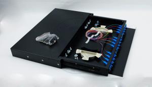China XYFiber 12 Port  Slidable Fiber Optic Terminal Box , Fiber Patch Panel 1U 19 inch on sale