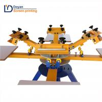 color 8 station rotary t-shirt printing machine with high quality