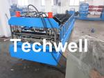 Galvanised / Color Steel Roofing Sheet Roll Forming Machine with Chain Transmission
