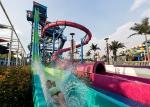 Adult Fast Fall Water Slide Playground / Fiberglass Slide Theme Water Park Project