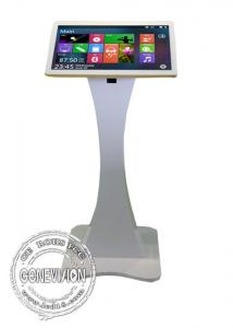 China 21.5 32 43 attractive floor standing 10 points multi touch Capacitive Touch Screen totem All in one PC kiosk display on sale