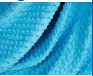 China 100 Polyester Blanket  Soft And Comfy Dot Fabric 0.5mm-5mm Pile Height on sale
