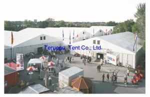 China Huge warehouse storage tent, structure marquee tent, industrial tent, ABS wall on sale