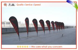 China Flag Portable Flying Banners Advertising Teardrop Light Weight For Outdoor Events on sale
