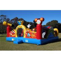 Durable Outdoor Inflatable Bouncer Mickey Mouse Bounce House For Amusement Park