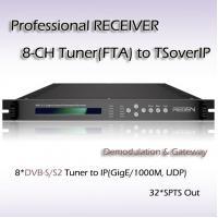 Hotel TV DVB-S/S2 TO UDP/RTP IPTV Equipment 8*DVB-S/S2 Input 256*SPTS IP Streaming Output