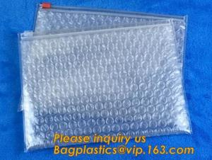 China Cosmetic Slider Ziplock Bubble Bags Bubble Slide Pouch,ziplock esd bubble bag bubble packaging wrap cosmetic pouch slide on sale