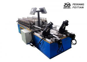 China Light Gauge Keel Metal Stud And Track Roll Forming Machine 40 m/min Speed With Double Line on sale
