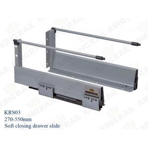 China New silence soft closing kitchen drawer slides Runner KRS03 on sale
