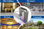 Torniquete do controle de acesso para o prédio de escritórios/hotel/aeroporto/comunidade