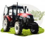 China 4x4 Gear Drive 3 Point Hitch Standard Four Wheel Drive Tractor / 80hp 4wd Farm Tractor wholesale